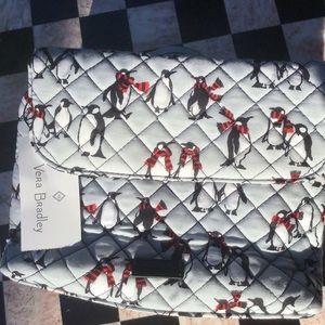 Vera🐧Bradley Playful Penguins Cosmetic Bag NWT